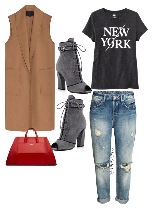 """""""Untitled #121"""" by oddlyfashionable on Polyvore featuring Alexander Wang, Old Navy and Prada"""