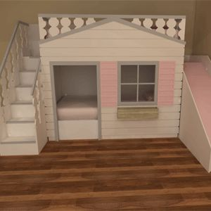 Luxury Cottage Bunk Beds With Slide Available In A Variety Of