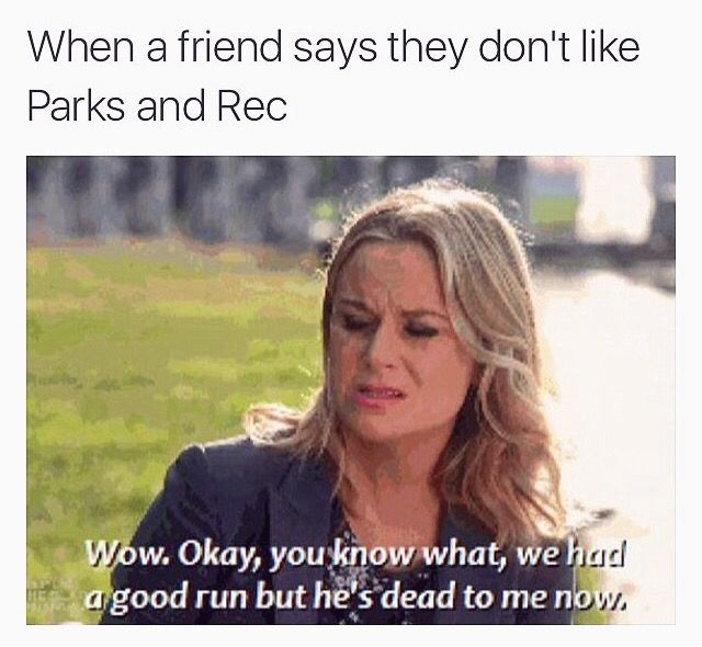 I've never heard anyone say they don't like Parks and Rec...