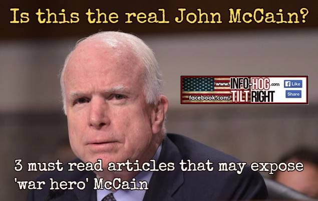 3 Interesting articles on John McCain. Perhaps Trump knows more than we do?  1.) https://www.lewrockwell.com/2015/07/no_author/sen-tokyo-rose-r-az/   2.) http://www.counterpunch.org/2008/06/13/mcnasty/   3.)http://www.unz.com/article/mccain-and-the-pow-cover-up/