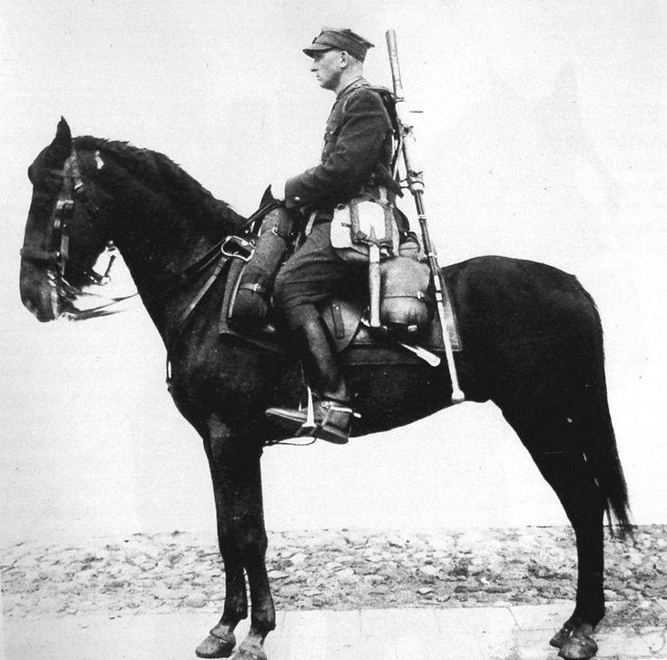Polish cavalry soldier with WZ. 35 anti-tank rifle, Warsaw, 1938