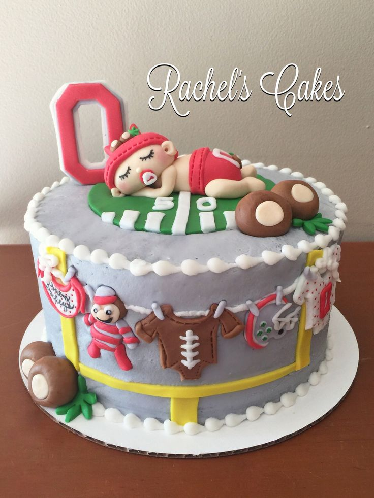 Baby Buckeye Cake - Ohio State baby shower
