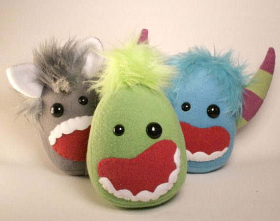 Phlemy a Monster Plushie by SaintAngel on Etsy, $25.00
