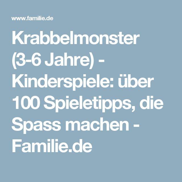 Krabbelmonster (3-6 Jahre) - Kinderspiele: über 100 Spieletipps, die Spass machen - Familie.de