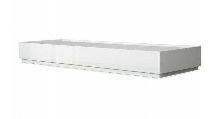 Modulares Lowboard Trento Buffet I breit Hochglanz-Lack Weiß