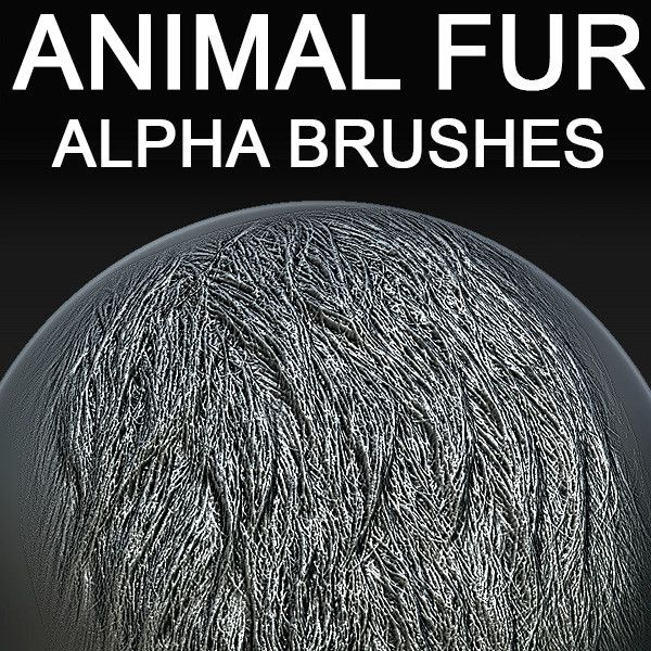 Buy animal fur alpha brushes for 3d sculpting in zbrush, mudbox, 3dcoat http://www.turbosquid.com/FullPreview/Index.cfm/ID/747599?referral=voronart