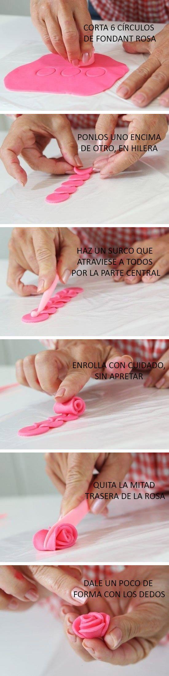 Rosa de Fondant /// Fondant rose