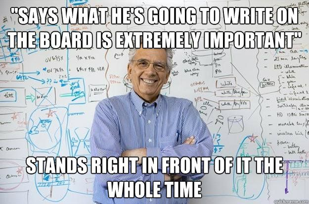 more like ANY professor!!!
