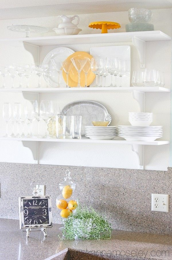 We Just Finished Installing Kitchen Open Shelving And It Opened Up The  Space In The Kitchen So Much! Itu0027s A HUGE Improvement From The Dark Oak  Cabinets That ... Part 42