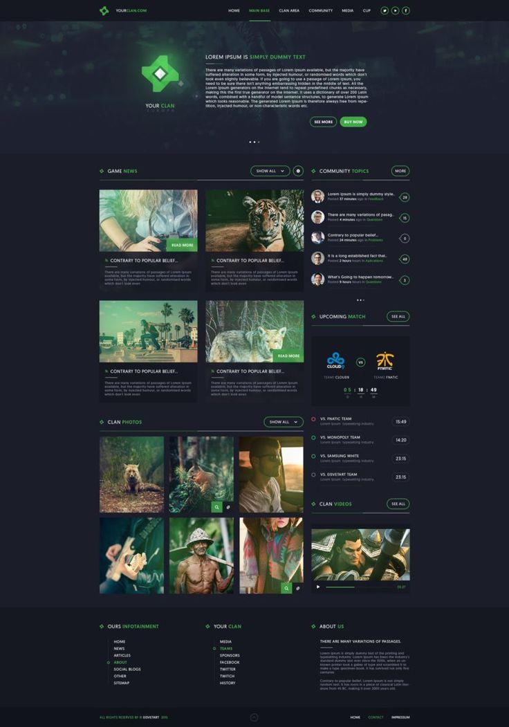 Clan Gaming Web Design by iEimiz on DeviantArt