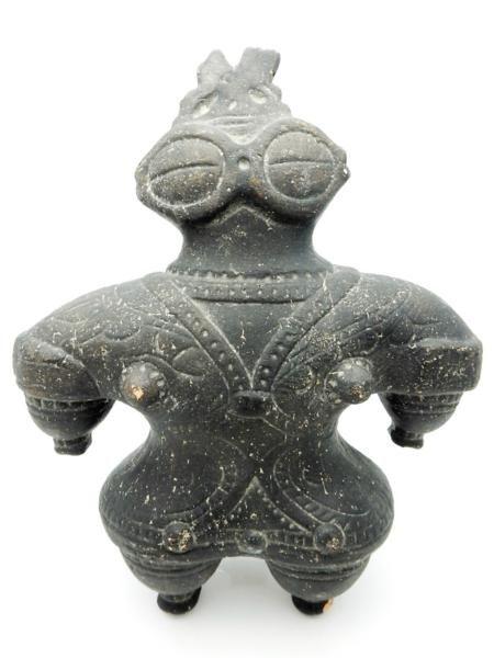 竜A35◆縄文時代 土器 遮光器 土偶(大) 青森県出土 約597.7g_画像1                                                                                                                                                                                 もっと見る