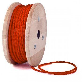 Kábel dvojžilový skrútený - Elegantná forma vodiča k svietidlu. Naše farebné káble neslúžia len na dodanie elektriny do Vášho svietidla.