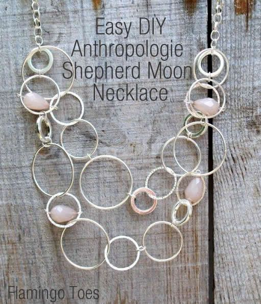 gorgeous!  I'll have to price this & see how much it would be to do for a pinterest party in the future  Anthroplogie Shepherd Moon Necklace TutorialFlamingo Toes