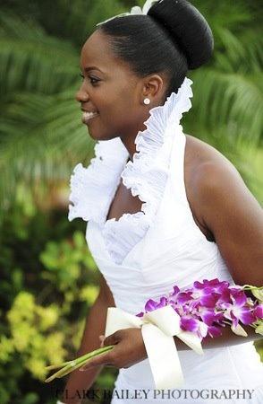 black bride; bride of colour; purple flowers; orchids
