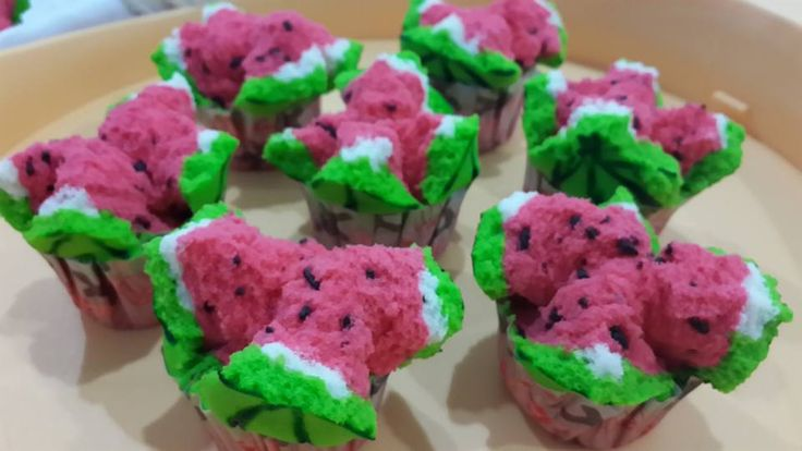 Singapore Home Cooks: Watermelon Steamed Cake by Pimalati Sari