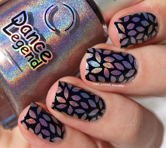 Nail Polish Society>> Dance Legend Teleportation and Uberchic Stamping Snippet