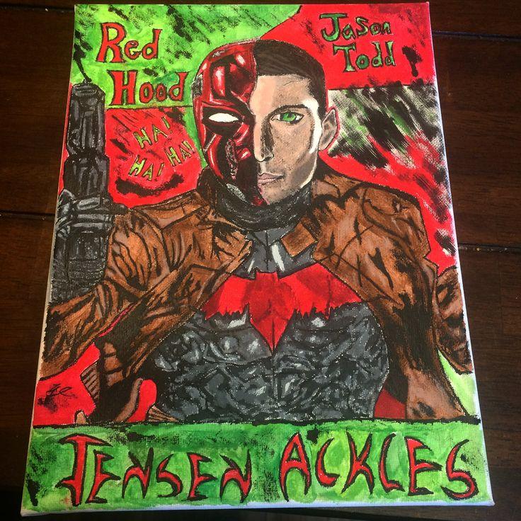 #redhood #jensenackles #painting #original #authentic #painter #artist #art #dcrealm #dccomics