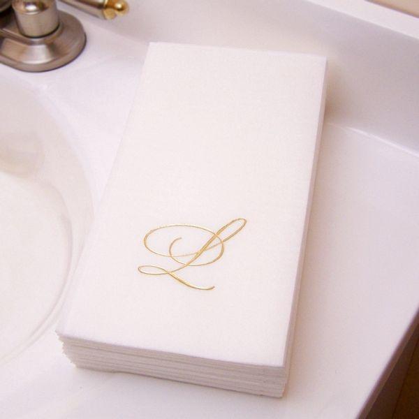 Paper Guest Towels Bathroom: Custom Printed Premium Masslinn Disposable Guest Towels