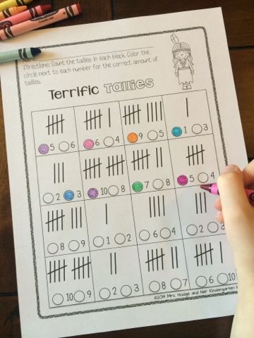 Mrs. Hodge and Her Kindergarten Kids: November Classroom Ideas And Activities! Students practice counting and correctly marking tally marks!