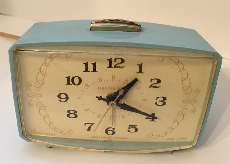 A personal favorite from my Etsy shop https://www.etsy.com/listing/527003571/powder-blue-retro-ge-alarm-clock-perfect