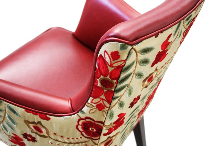 Leather / upholstered chair by Jimmy Possum - heaven.