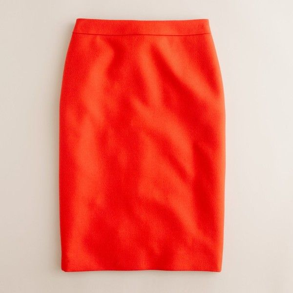 Petite No. 2 pencil skirt in double-serge wool ($80) ❤ liked on Polyvore