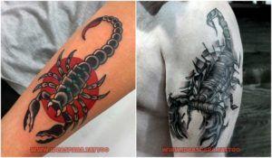 Tatuajes de escorpiones - Ideas para tatuajes de Hombre. #imágenes tatuajes de escorpiones #tatuajes escorpiones ideas