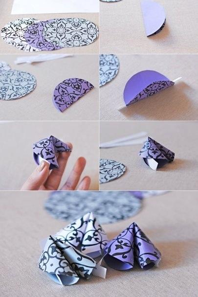origami fortune cookies