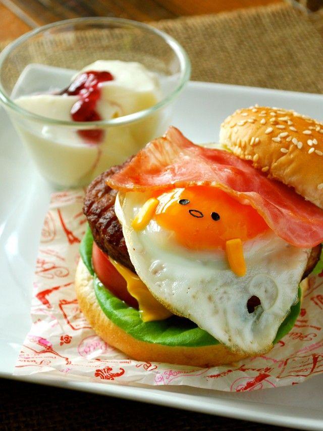 サンリオ人気キャラクター☆「ぐてたま」月見バーガーの作り方