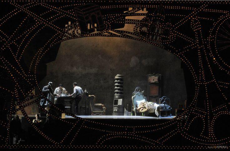 Teatro La Fenice's production of Puccini's La Boheme Act 1. Directed by Francesco Micheli. Sets by Edoardo Sanchi. Follow me @operandesign