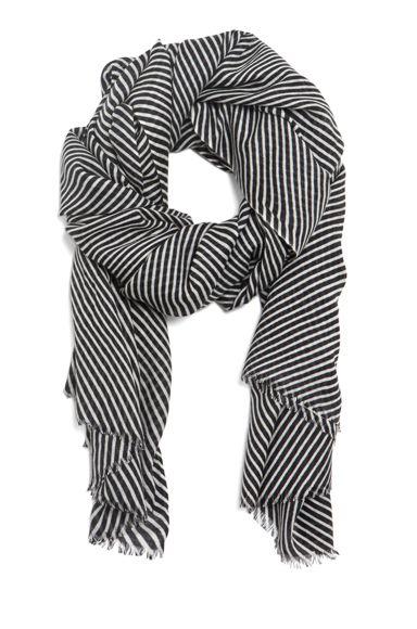Kelly Wearstler Oblique Scarf in Onyx