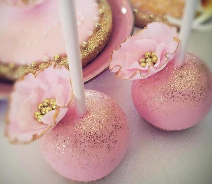 Pink And Gold Cake Pops Wedding Favors Coral Blush Winter Inspiration