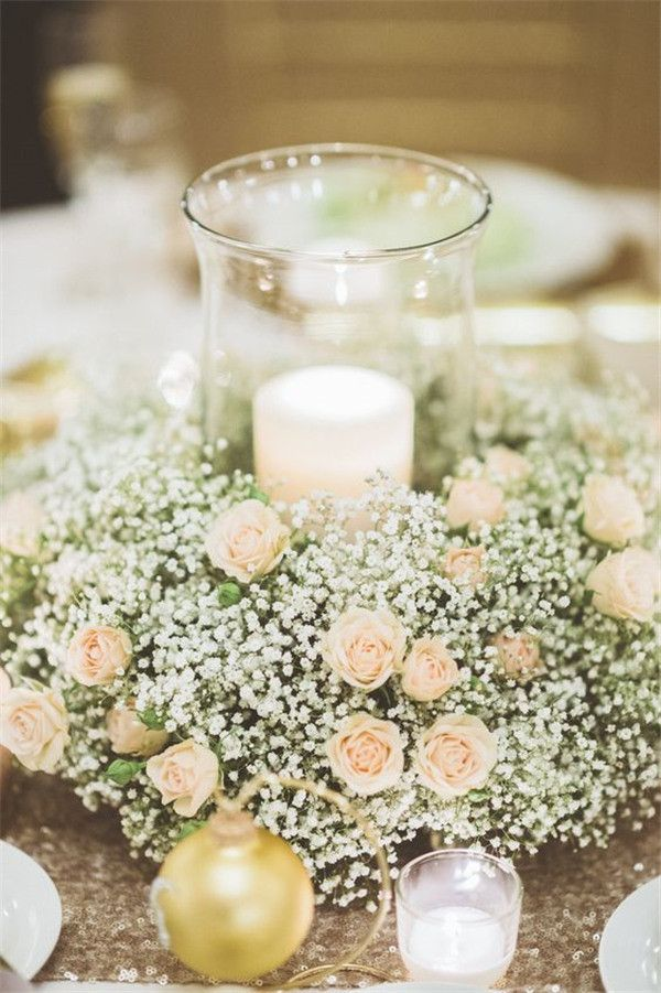 Best 25 inexpensive wedding centerpieces ideas on pinterest 22 perfect ways to use babys breath at your wedding junglespirit Choice Image