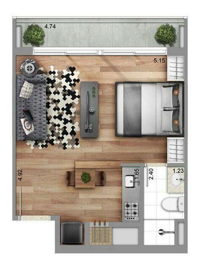 98 Cozy Modern Small Apartment Design 30 Studio Apartment Layout