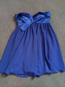 Blue Strapless Dress (Formal)