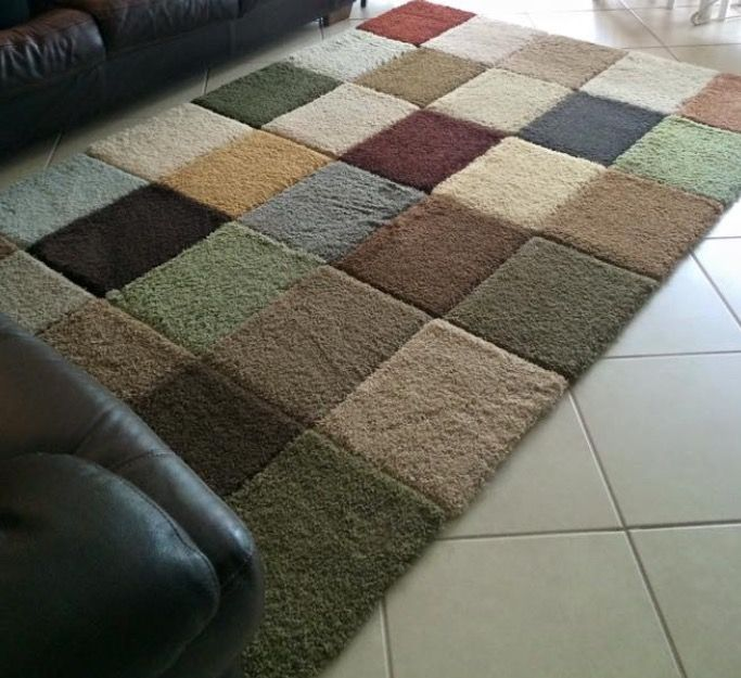 Runner Rug Diy: She Did This With Free Carpet Square Samples And Gorilla