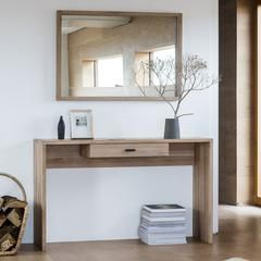 This long narrow console table is the perfect addition to an entrance hallway or small living room. Without claiming too much floor space, it offers an extra surface to any room. Its practical drawer is ideal for storing keys or post, leaving the surface free for decorative items.  Match with other items in the Kielder Range.  The new Kielder solid oak furniture range from Hudson Living is a minimalist range, which offers a contemporary and fresh design. Constructed from solid oak with white…