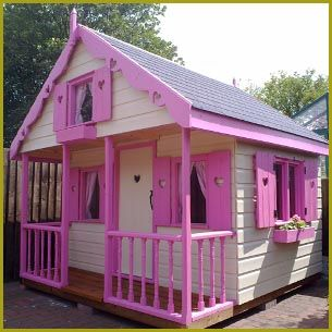 Paint job future office insperation pinterest garden for Wooden wendy house ideas