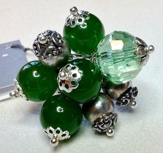 Anello Green Cristallo e pietra dura color di jewelrysoutache, €18.00
