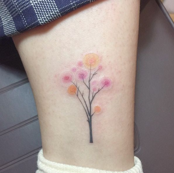 Playful Tree Tattoo Design by River