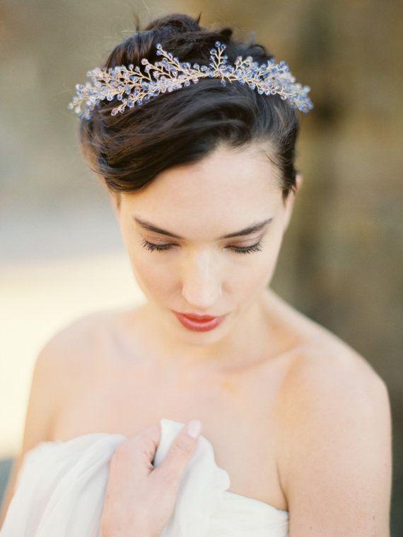 Crystal Headpiece Lavender Flower Crystal от MelindaRoseDesign