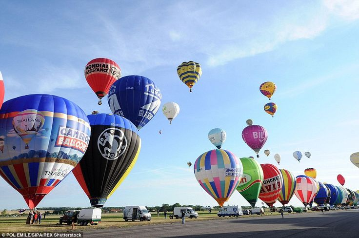 Chucks away: 'A new page in ballooning history has been written,' said Philippe Buron-Pila...