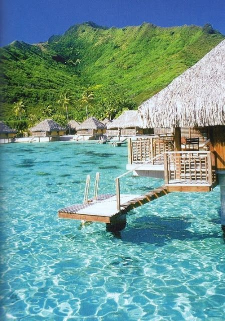 Bora Bora summer escape- can totally picture us there with a drink in hand!! Stoked!