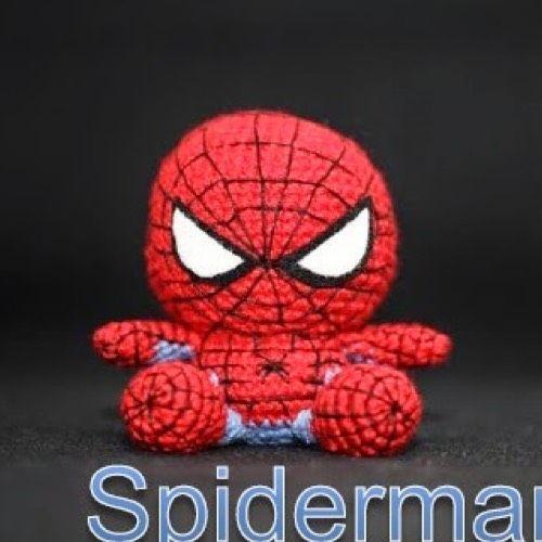Amigurumi Spiderman Patron : Patron Spiderman Kawaii Amigurumi Pinterest ...