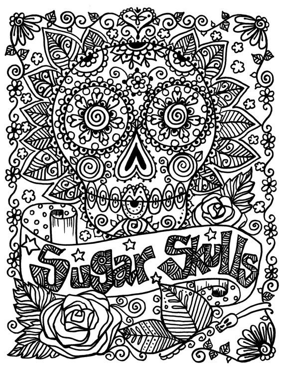 SuGaR SkULLs Coloring Book You