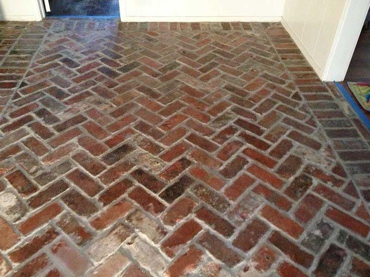 Independence Antique Brick Thin Brick Floor Hall Sealed