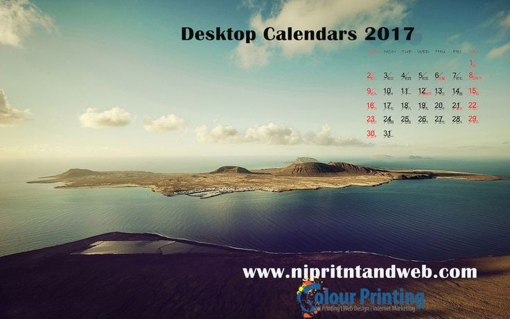 We provide printable free #Desktop #Calendar of 2017, 2016 & so on with holidays. http://www.njprintandweb.com/product/desktop-calendars/