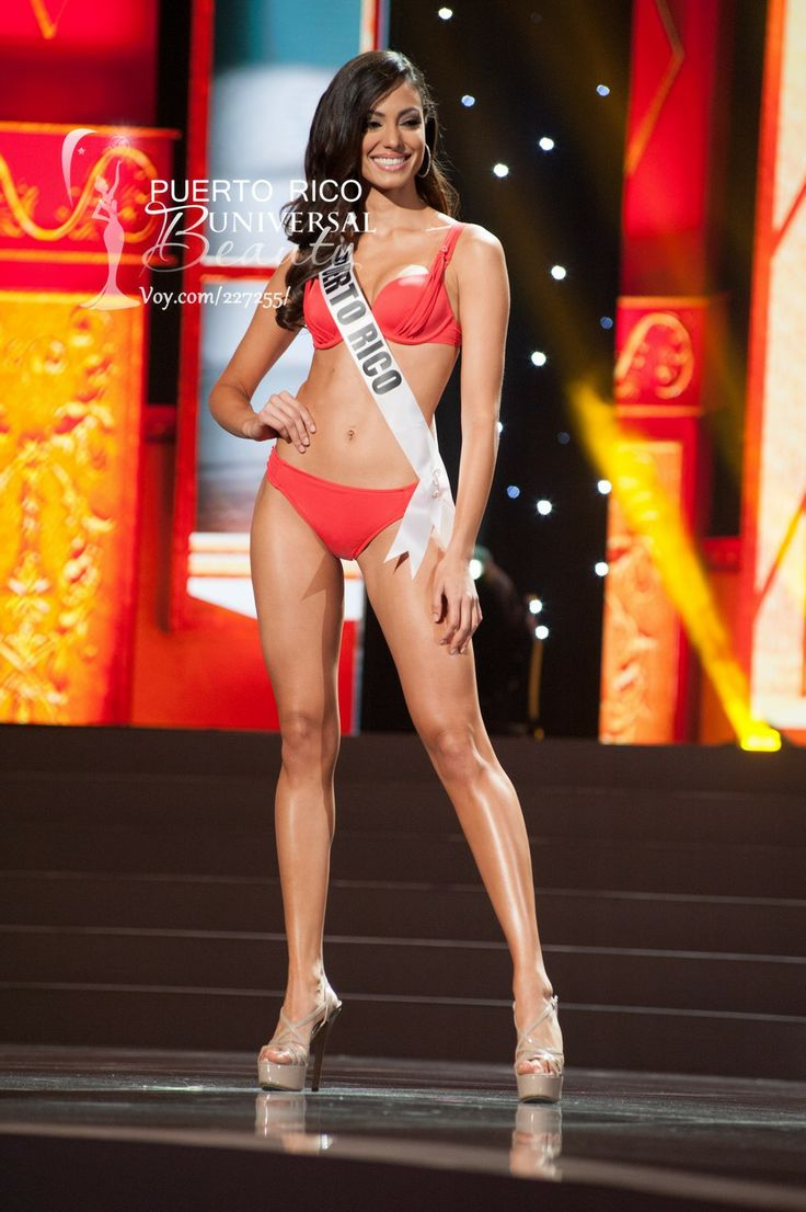 Monic Perez, Miss Universe Puerto Rico 2013, competes in the swimsuit competition in her 2014 YAMAMAY FOR MISS UNIVERSE swimwear collection featuring footwear by Chinese Laundry during the Preliminary Competition at Crocus City Hall on November 5, 2013. #MissUniverse2013 #MissUniverse #MissUniverso2013 #MissUniverso #Russia #Moscow #Rusia #Moscú #MissPuertoRico #MonicPerez