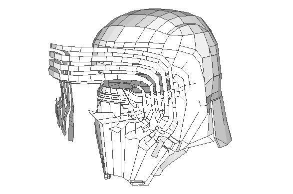 Star Wars - Life Size Kylo Ren Helmet Ver.3 Free Papercraft Download - http://www.papercraftsquare.com/star-wars-life-size-kylo-ren-helmet-ver-3-free-papercraft-download.html#Cosplay, #Helmet, #KyloRen, #LifeSize, #StarWars