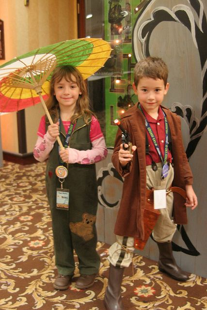 Taken by a P Verrant.  Kids cosplaying as Kaylee and Mal from Firefly!?